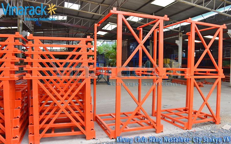 Khung pallet nestainer xếp chồng